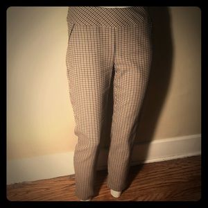 ATTRE New York Tan Checkered Pants Size 4